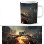 Чашка принтом World of Tanks 0035S