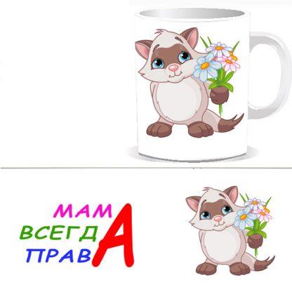 Чашка Мама всегда права - M0001S