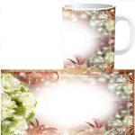 Чашка с фото - Цветы W0018S