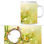 Чашка с фото - весна W0026S