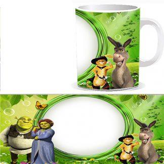 Чашка детская Шрек и его друзья и Вашей фотографией, фотографией поздравляемого ребенка