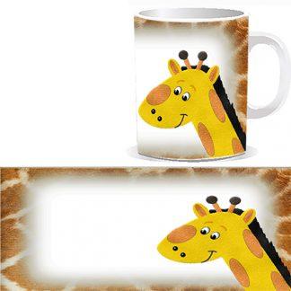 Чашка детская со сказочным жирафом и Вашей фотографией, фотографией поздравляемого ребенка или семейной фотографией